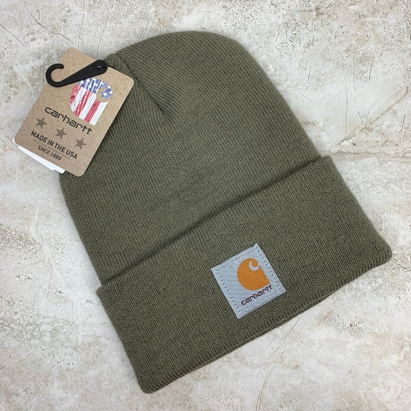 7ab0ee0a9ab CARHARTT — Unisex Olive Green Knit Winter Hat NWT